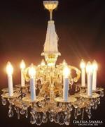 Mária Terézia stílusú ólom kristály csillár 10 karos