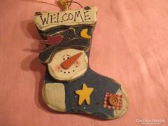 Nagyon szép   karácsonyi ajtó dísz  Á0114