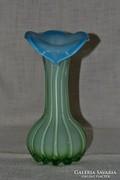 Bordázott héjalt üveg váza ( 015 )