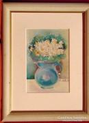Margaréták üvegkancsóban -szép csendélet 89-ből