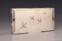 Ezüst doboz vadkacsákkal