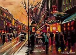 Párizs éjjel  Festmény