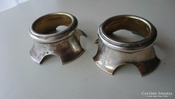 Ezüst fűszertartó ( üveg nélkül) 2 db.