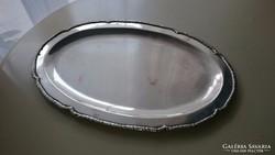 Ezüst ovális tálca 300 gr.(28 x19 cm)