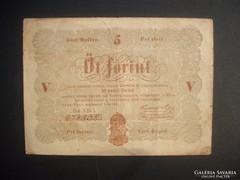Kossuth 5 forint 1848 Barna nyomat !!!