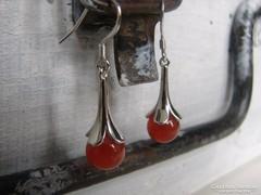 Finom ezüst 925  lógós fülbevaló