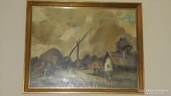 Gémeskút festmény eladó