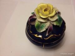 Kézzel festett kolozsvári porcelán bonbonier Karácsonyra !!!