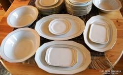31 db-s étkészlet fehér arany csíkos BAVARIA