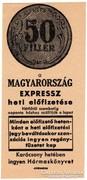 Magyarország Expressz előfizetés - 50 fillér