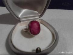 Csodás nagy  rubin köves ezüst gyűrű
