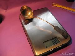 Ezüst merőkanál 68 gramm 4 cl 800-as 22 cm 1867-1937