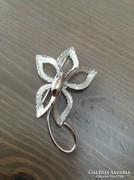 Régi Bond Boyd ezüst orchidea bross