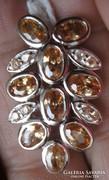 925 ezüst medál morganitokkal, fenséges