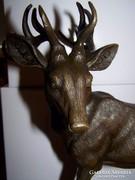 Szarvas bronz szobor