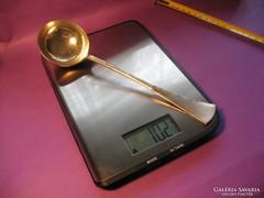 Ezüst merőkanál 102 gramm 5 cl 800-as 22,5 cm 1867-1937