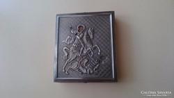 Orosz 875 ös (84) ezüst Szt. György kis ikon.