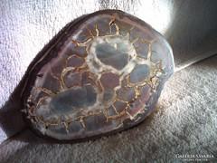 Csodálatos rajzolatú szeptária ásvány! Különleges darab!
