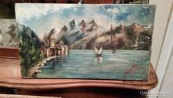 Régi olaj-vászon festmény 1905. Keretet adok hozzá.