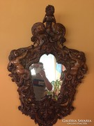 Antik faragott fa tükör