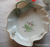 Herendi porcelán kínáló tál hecsedli dekoros