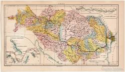 A Duna térkép 1894, eredeti, antik, Pallas
