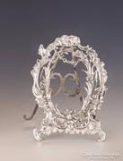 Ezüst kis barokk stílusú képkeret