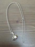 Régi finn ezüst hattyús nyaklánc igazgyönggyel