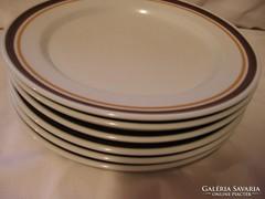 6 db porcelaine de sologne france tányér