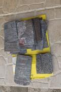 80 Antik Latin Biblia nyomódúc könyv nyomda nyomó prés lemez