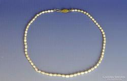 0J233 Régi bizsu gyöngysor nyaklánc 45 cm