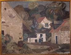 Scholz Erik : Pilismaróti udvar c. festménye