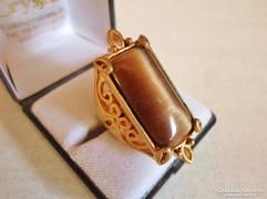 Gyönyörű antik aranyozott nagy köves gyűrű