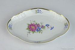 0J363 Virágmintás Hollóházi porcelán tálka
