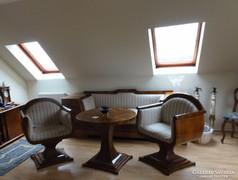 Biedemeier - Art Deco kanapé fotel asztal