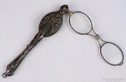 0J785 Antik szecessziós ezüst lornyon szemüveg