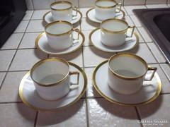 Antik Hüttl 6 személyes (44 db-os) nemesi ét- és teáskészlet