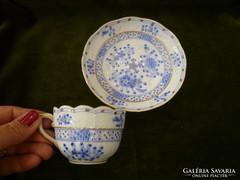 Kék Waldstein herendi mokkás / kávés csésze aljával