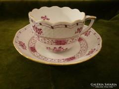 Pink Waldstein mintás herendi mokkás / kávés csésze aljával