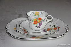 Angol Mayer Sherratt kézzel festett teás-süteményes négyes
