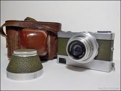 Retro Werra Novonar bőr tokos fényképezőgép , gyártás 1955