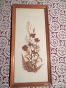 Virágcsendélet szárított virágból 22x14,5 cm