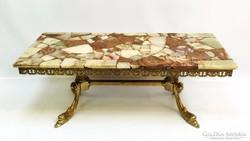 Empire dohányzó-, kínálóasztal  márvány, réz