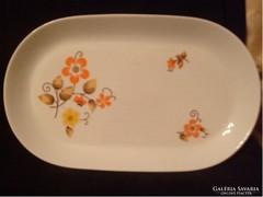 Virágdíszítésű Porcelán Kínáló