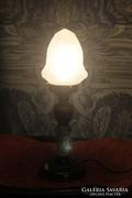 Art Deco asztali lámpa üveg búrával