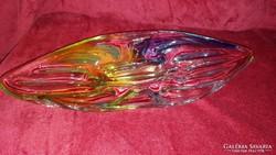 Régi szines üveg asztalközép