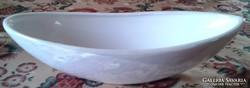 Új, csónak alakú, gyöngyház fényű kínáló, tál, asztalközép