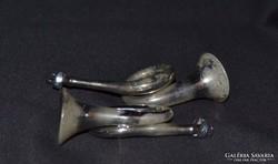 2 db antik üveg trombita karácsonyfadísz