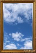 0J468 Hatalmas méretű fazettázott tükör 130 x 190