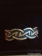 Férfi ezüst gyűrű különleges mintával